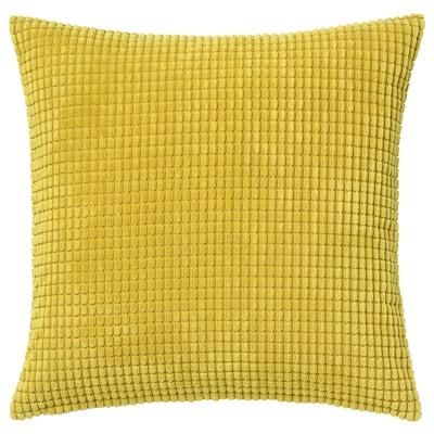 GULLKLOCKA cushion cover yellow 50 cm 50 cm