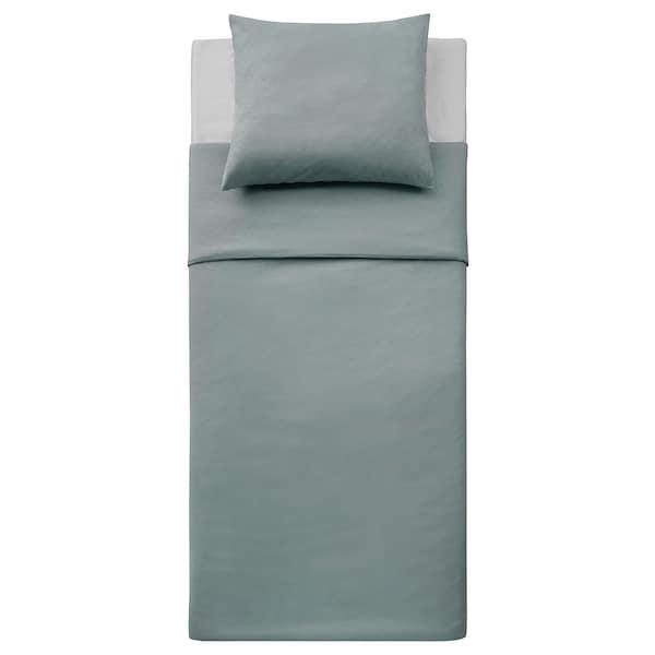 GULLTÖREL Duvet cover and pillowcase, light blue, 140x200/60x70 cm
