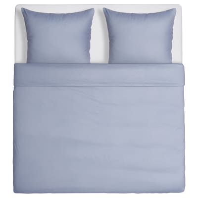 GULLTÖREL Quilt cover and 2 pillowcases, light blue, 200x200/60x70 cm