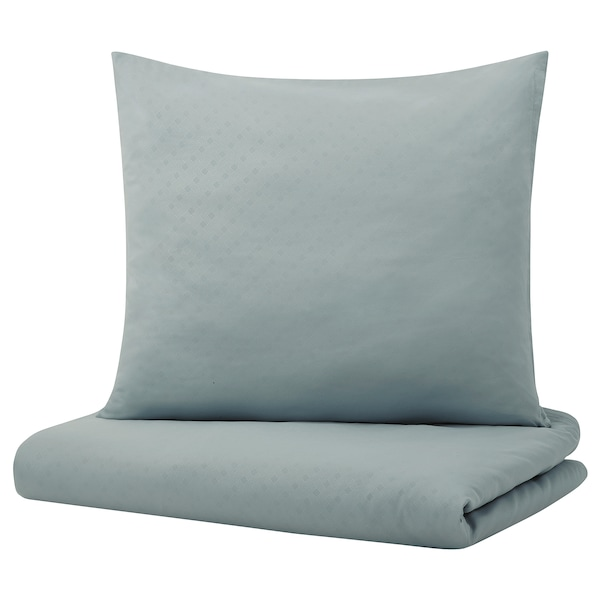 GULLTÖREL Quilt cover and pillowcase, light blue, 140x200/60x70 cm