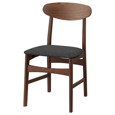GUNLEIF Chair, brown/Gunnared dark grey