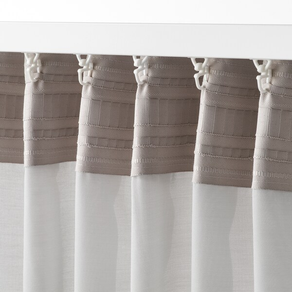 GUNRID air purifying curtain, 1 pair light grey 300 cm 145 cm 1.12 kg 4.35 m² 2 pack