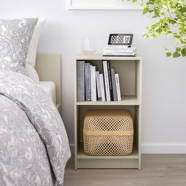 GURSKEN Bedside table, light beige, 39x30 cm