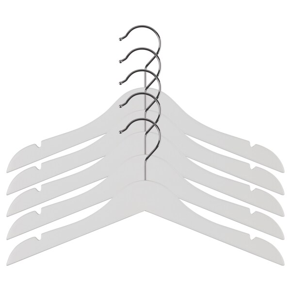 HÄNGA children's coat-hanger white 5 pack