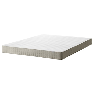 HAFSLO Sprung mattress, medium firm/beige, 140x200 cm