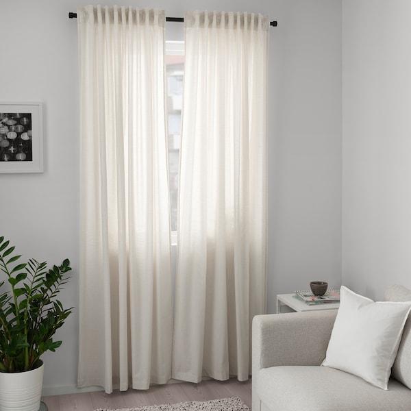 HANNALILL Curtains, 14 pair, beige, 1445x14 cm - IKEA