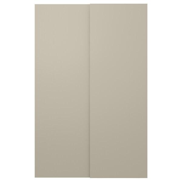 HASVIK pair of sliding doors beige 150 cm 236 cm 8.0 cm 2.3 cm