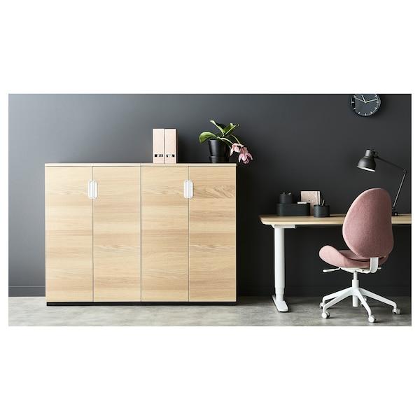 HATTEFJÄLL office chair Gunnared light brown-pink 110 kg 68 cm 68 cm 110 cm 50 cm 40 cm 41 cm 52 cm