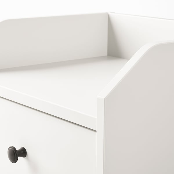 HAUGA Bedside table, white, 40x36 cm
