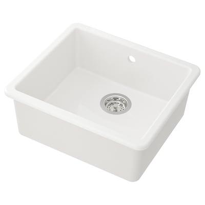 HAVSEN inset sink, 1 bowl white 19 cm 47 cm 40 cm 44.7 cm 51.5 cm 47 cm 53 cm 53 cm 47 cm 20 cm 35.7 l