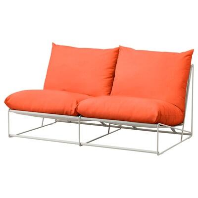 HAVSTEN 2-seat sofa, in/outdoor without armrests orange/beige 164 cm 94 cm 90 cm 62 cm 42 cm