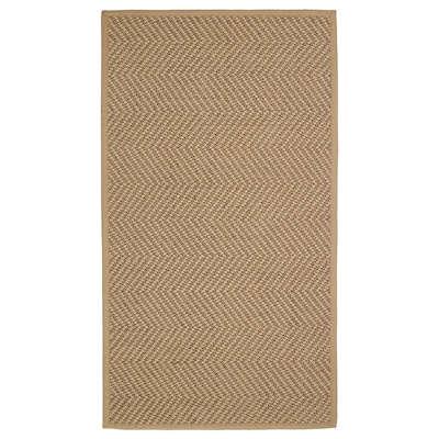 HELLESTED Rug, flatwoven, natural/brown, 80x150 cm