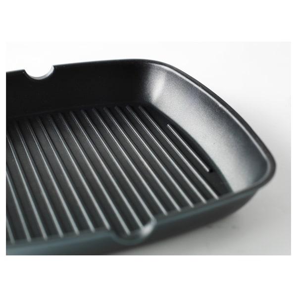 HEMLAGAD Grill pan, black, 28x28 cm