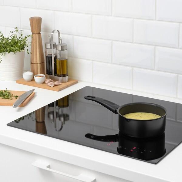 HEMLAGAD Saucepan, black, 1 l