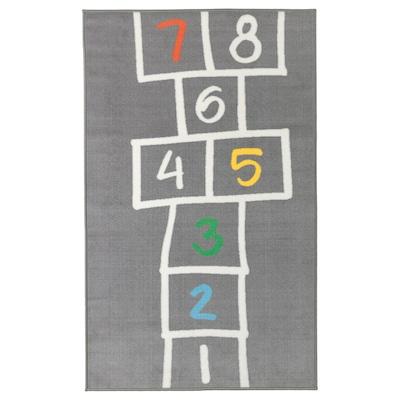 HEMMAHOS rug grey 160 cm 100 cm 1.60 m²