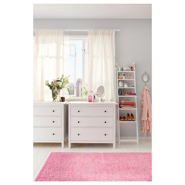 HEMNES Chest of 3 drawers, white stain, 108x96 cm
