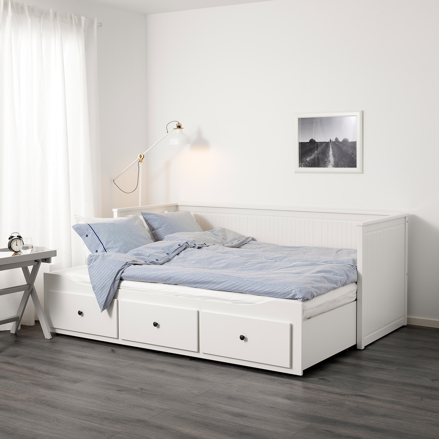 Bedbank En Logeerbed.Hemnes Day Bed Frame With 3 Drawers White Ikea