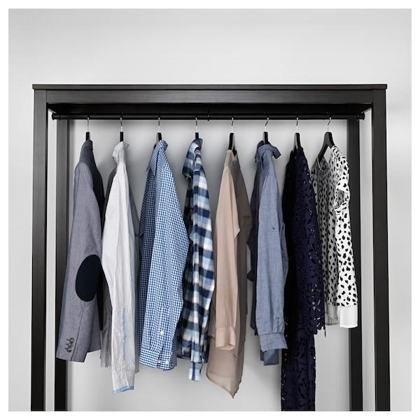HEMNES Open wardrobe, black-brown, 120x50x197 cm