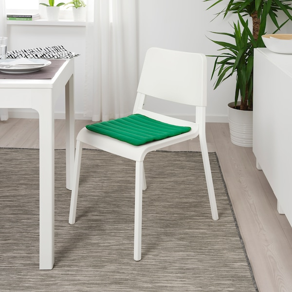 HERDIS Chair pad, bright green, 37x37x1.8 cm
