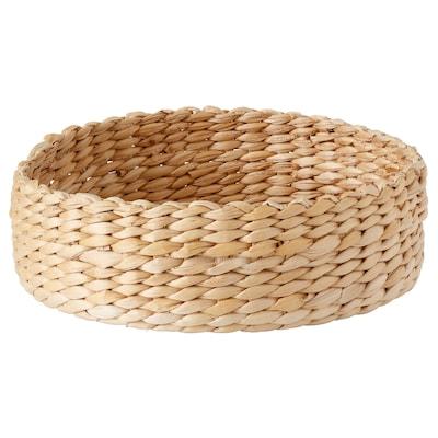 HIALÖS Basket, handmade/banana fibre natural colour, 27 cm