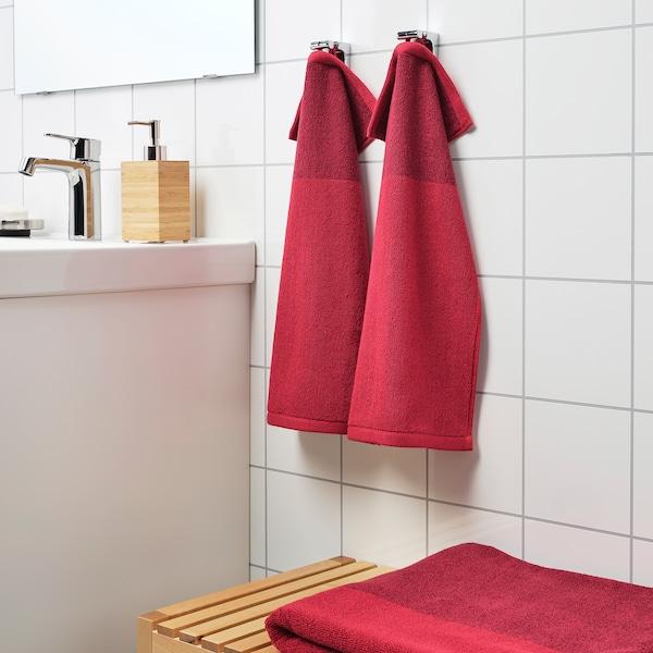 HIMLEÅN Guest towel, dark red/mélange, 30x50 cm