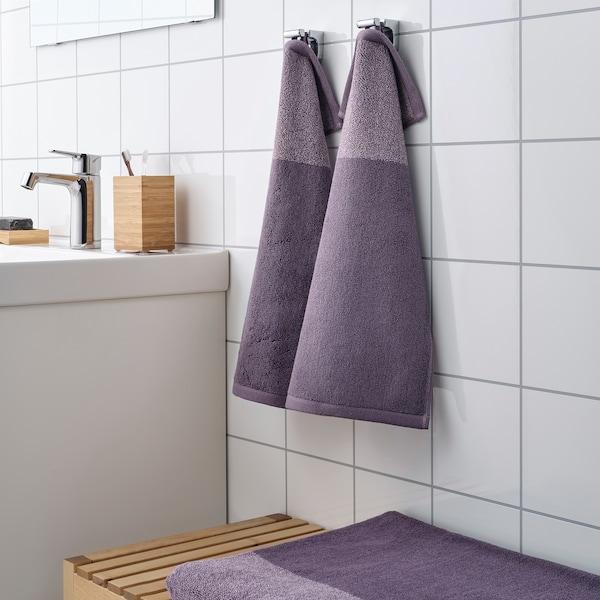 HIMLEÅN guest towel lilac/mélange 500 g/m² 50 cm 30 cm 0.15 m²