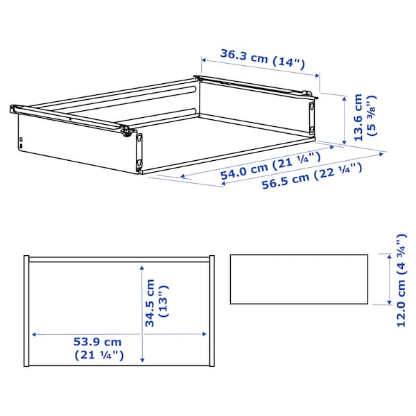 HJÄLPA Drawer without front, white, 60x40 cm