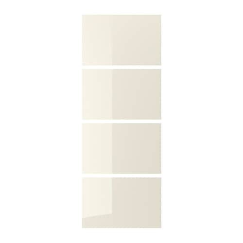 Hokksund 4 Panels For Sliding Door Frame High Gloss Light Beige Light Beige