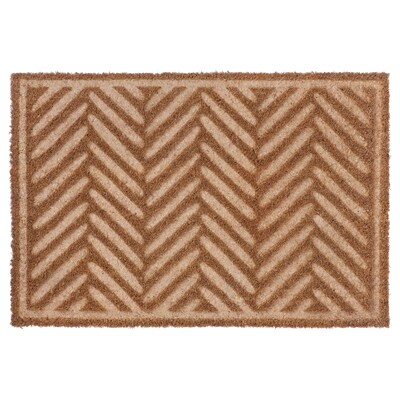 HÖSTKVÄLL Door mat, natural, 40x60 cm