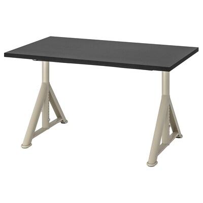 IDÅSEN Desk, black/beige, 120x70 cm