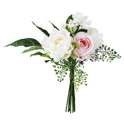 INBJUDEN Artificial bouquet, pink, 35 cm