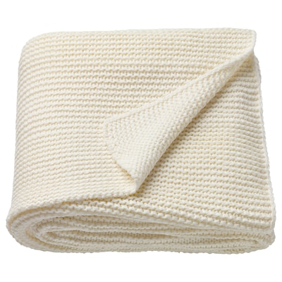INGABRITTA throw off-white 170 cm 130 cm 1080 g