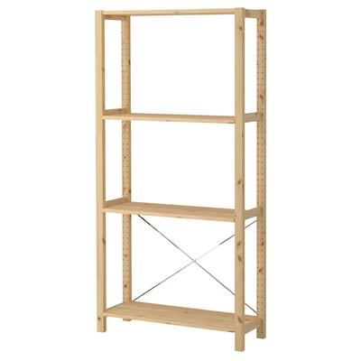 IVAR 1 section/shelves pine 89 cm 30 cm 179 cm