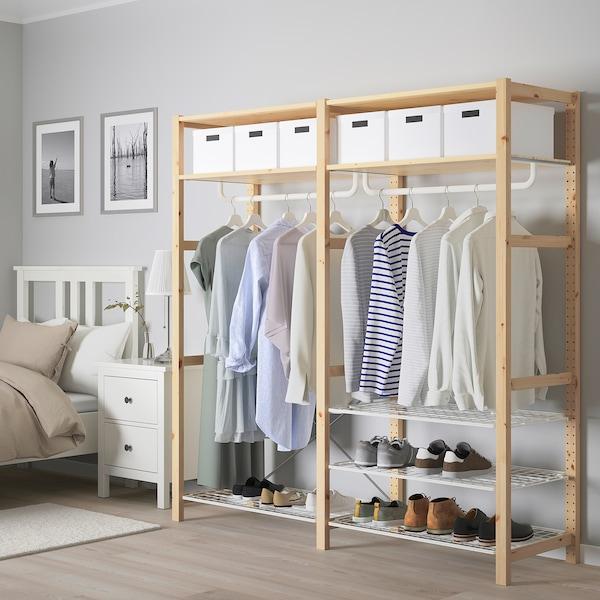 IVAR Shelving unit with shelves/rails, pine, 174x50x179 cm