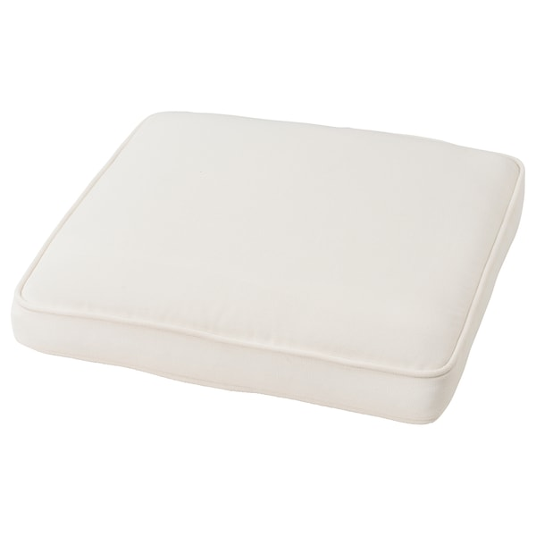 JÄRPÖN cover for chair cushion outdoor white 50 cm 50 cm