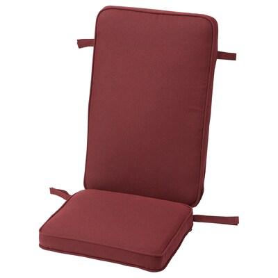JÄRPÖN/DUVHOLMEN Seat/back cushion, outdoor, brown-red, 116x45 cm