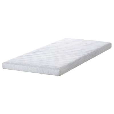 JÖMNA Polyurethane foam mattress, light grey, 90x200 cm