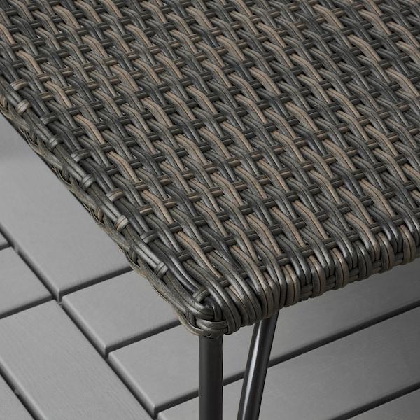 JUTHOLMEN Stool, outdoor, dark grey-brown, 65x65x31 cm