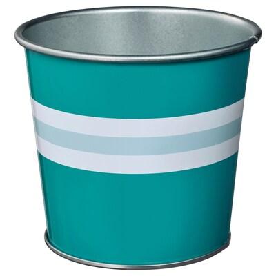 KAKIPLOMMON Plant pot, in/outdoor turquoise, 9 cm