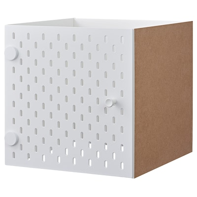 KALLAX Insert with pegboard, white, 33x33 cm