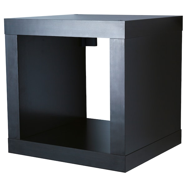 KALLAX Shelving unit, black-brown, 42x42 cm