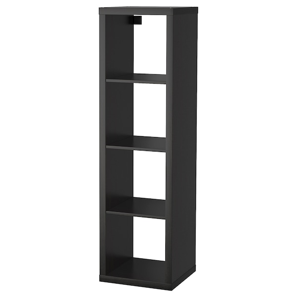 KALLAX Shelving unit, black-brown, 42x147 cm