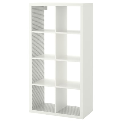 KALLAX shelving unit white/check pattern 77 cm 39 cm 147 cm 13 kg