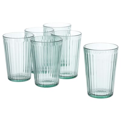 KALLNA glass green 11 cm 31 cl 6 pack