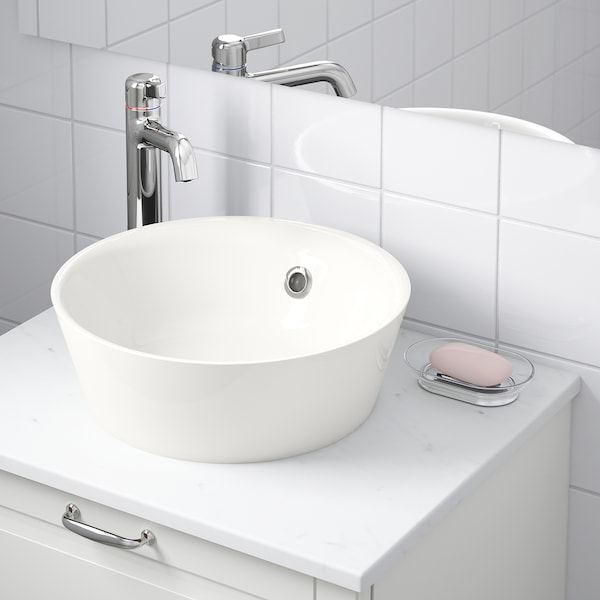 KATTEVIK Countertop wash-basin, white, 40 cm