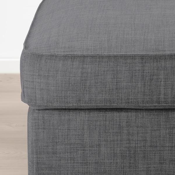 KIVIK footstool with storage Skiftebo dark grey 90 cm 70 cm 43 cm