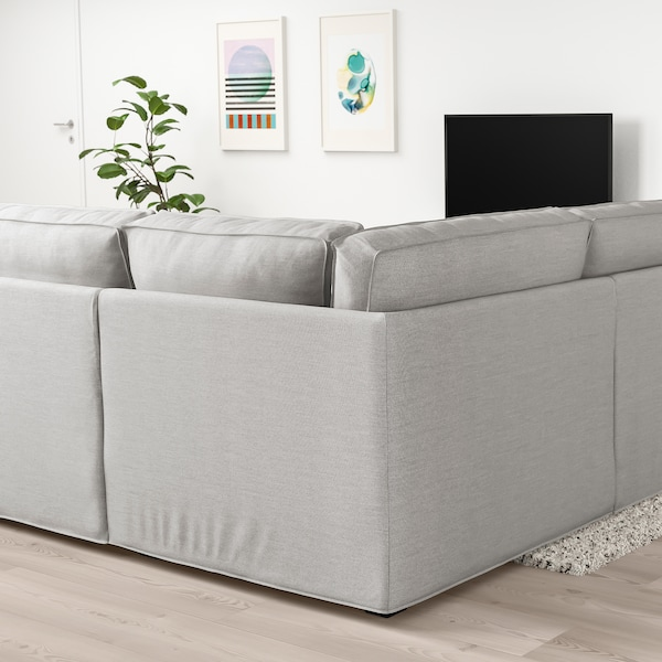 KIVIK u-shaped sofa, 7-seat Orrsta light grey 368 cm 257 cm 83 cm 24 cm 60 cm 45 cm