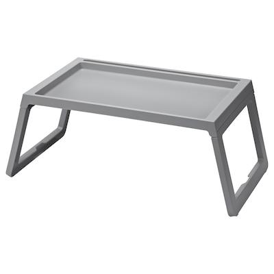 KLIPSK bed tray grey 56 cm 36 cm 26 cm