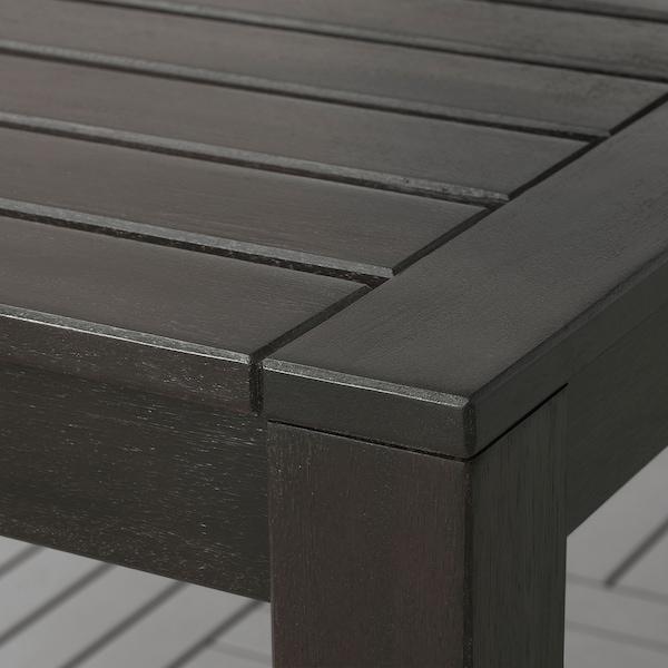 KLÖVEN table, outdoor black-brown 160 cm 90 cm 75 cm