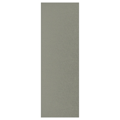 KLUBBUKT Door with hinges, grey-green, 60x180 cm